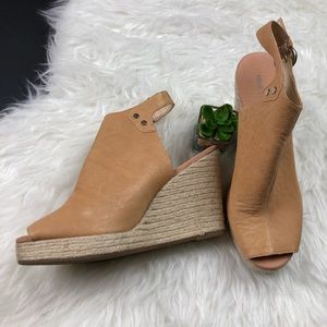 Nine West espadrille wedge peep toe booties